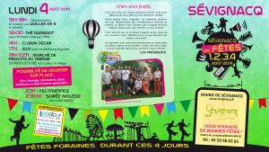 Programme Verso Sévignacq en Fête 2014