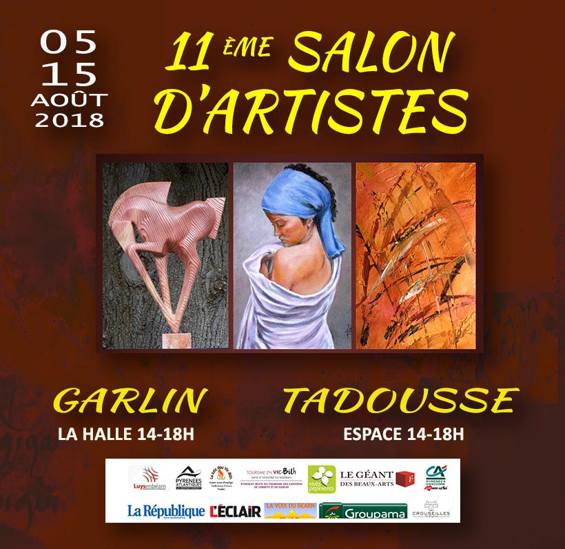 AOUT 2018   11ème Salon d'Artistes GARLIN EXPOSITION COLLECTIVE