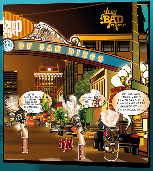 Der de Couverture de la BD VERY BAD CLOPES - Création Graphique : Nathalie Bourré - TinaRebou