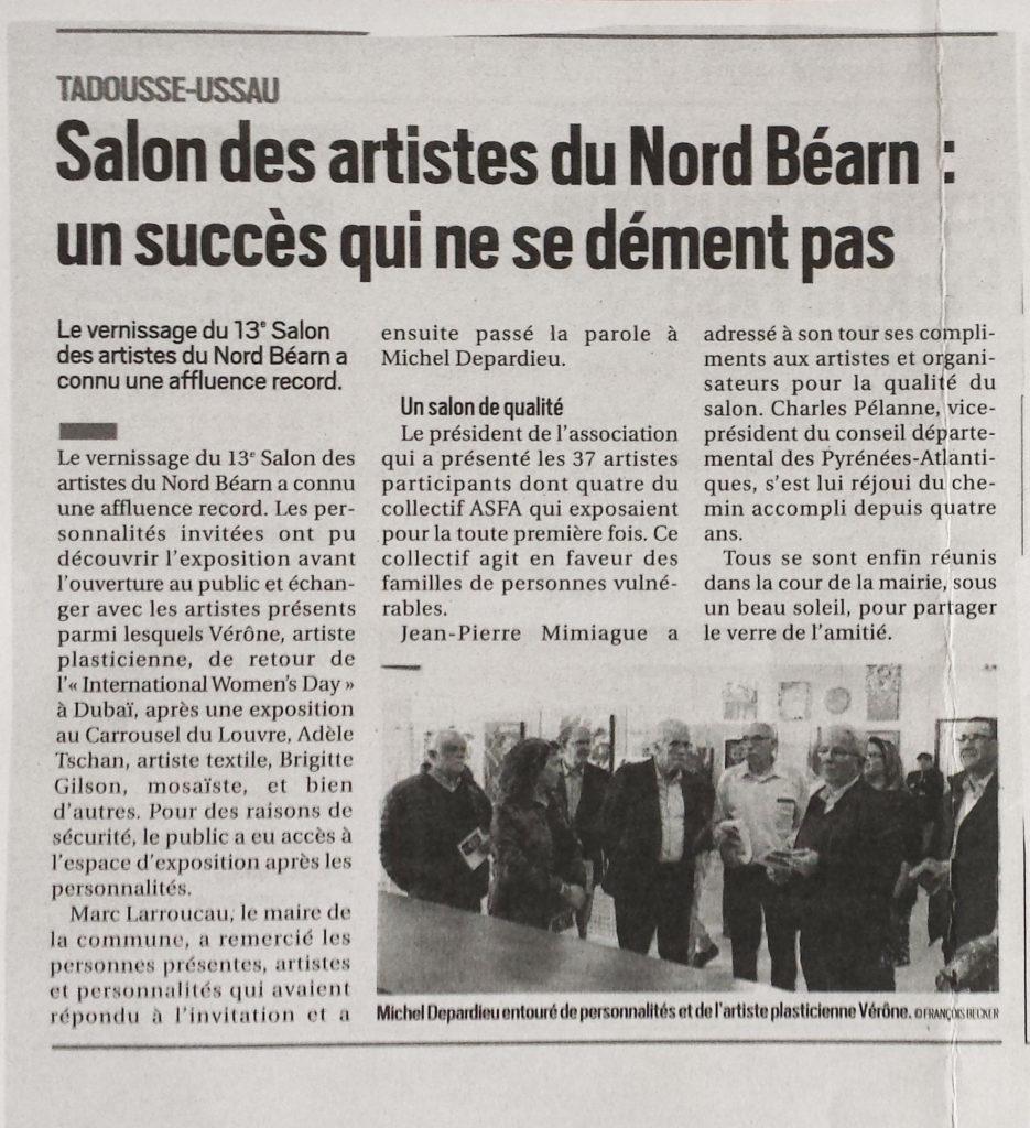Second  Article Expo Tadousse Ussau